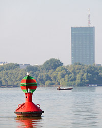 Srećna bova na ušću Save u Dunav