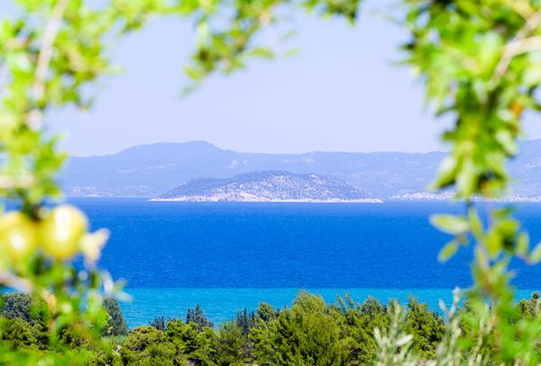Pogled na Kornjačino ostrvo i Neos Marmaras
