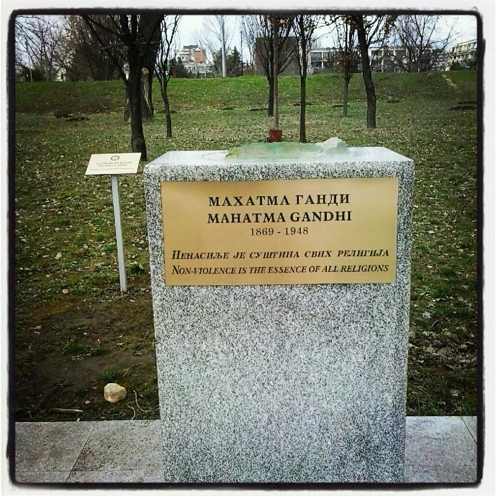 Spomenik Gandiju