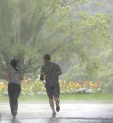 Džogiranje na kiši