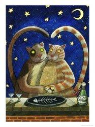 Mačja večera pod vedrim nebom