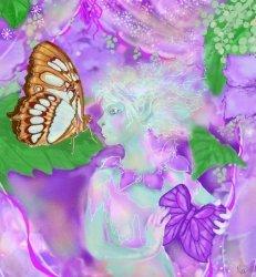 Devojka i leptir
