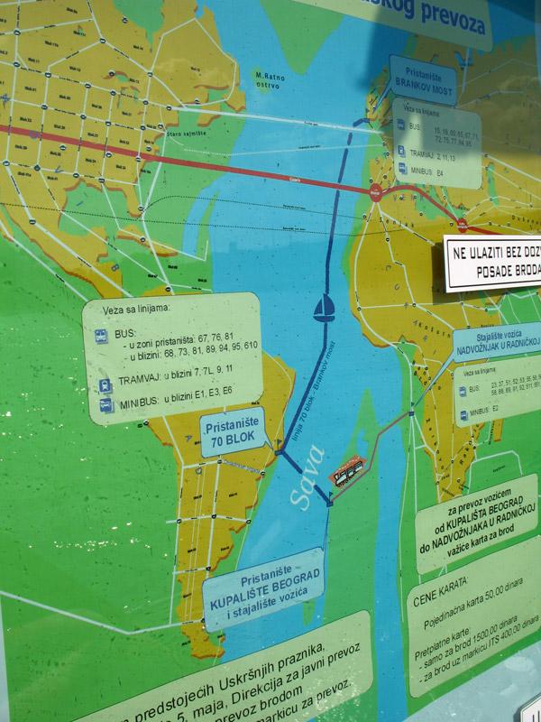 Mapa kretanja broda