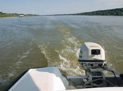 Naša matora hondica na Dunavu