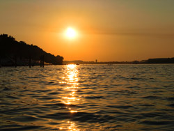 Zalazak sunca na Dunavu kod Zemuna