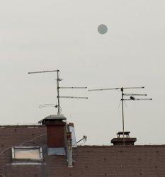 Balon-globus sa Slavije viđen sa našeg prozora