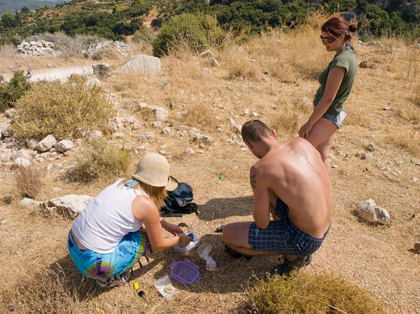 Milica i češke kolege geocacheri na Zakintosu