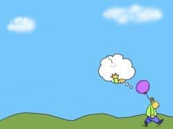 Dečak sa dvostrukim balonom